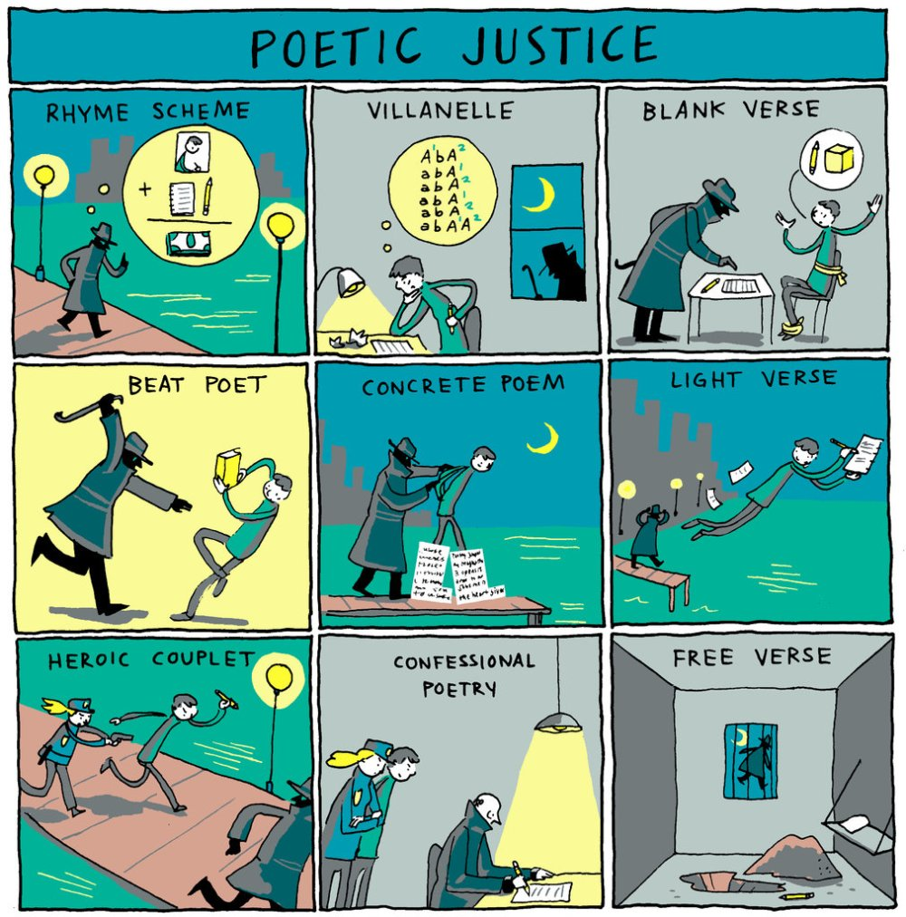 poetry forms cartoon